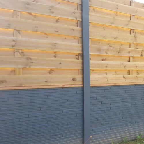 Domifence Beton-houtschuttingen 80cm